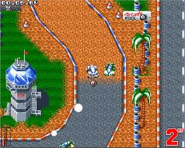 In game image of ATR: All Terrain Racing on the Commodore Amiga.