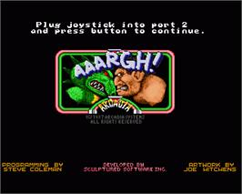 In game image of Aaargh on the Commodore Amiga.