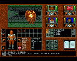 In game image of Abandoned Places: A Time for Heroes on the Commodore Amiga.