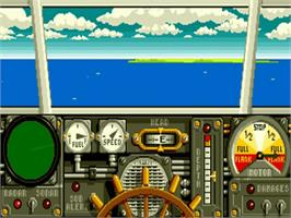 In game image of Advanced Destroyer Simulator on the Commodore Amiga.