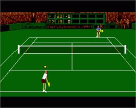 In game image of Advantage Tennis on the Commodore Amiga.