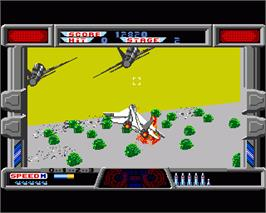 In game image of After Burner II on the Commodore Amiga.
