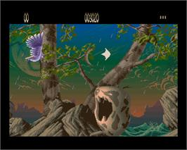 In game image of Agony on the Commodore Amiga.
