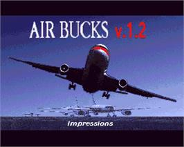 In game image of Air Bucks on the Commodore Amiga.