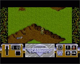 In game image of Airborne Ranger on the Commodore Amiga.