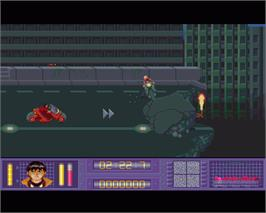 In game image of Akira on the Commodore Amiga.