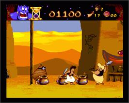 In game image of Aladdin on the Commodore Amiga.