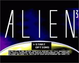 In game image of Alien³ on the Commodore Amiga.