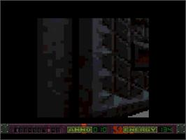 In game image of Alien Breed 3D II: The Killing Grounds on the Commodore Amiga.