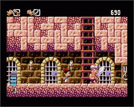 In game image of Arabian Nights on the Commodore Amiga.