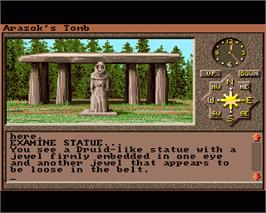 In game image of Arazok's Tomb on the Commodore Amiga.