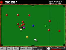 In game image of Arcade Snooker on the Commodore Amiga.