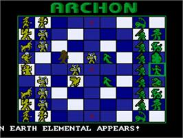 In game image of Archon: The Light and the Dark on the Commodore Amiga.