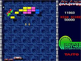 In game image of Arkanoid on the Commodore Amiga.