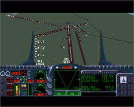 In game image of Armour-Geddon 2: Codename Hellfire on the Commodore Amiga.