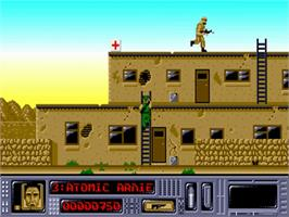 In game image of Arnie on the Commodore Amiga.