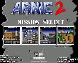 In game image of Arnie 2 on the Commodore Amiga.
