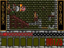 In game image of Artura on the Commodore Amiga.