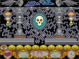 In game image of Astaroth: The Angel of Death on the Commodore Amiga.