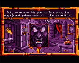 In game image of Baba Yaga on the Commodore Amiga.