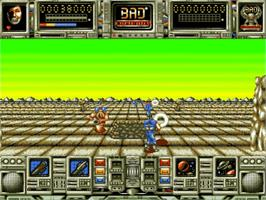In game image of Bad Company on the Commodore Amiga.