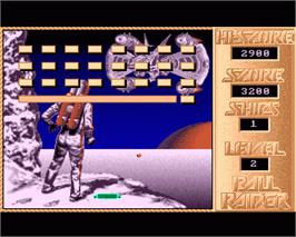 In game image of Ball Raider 2 on the Commodore Amiga.