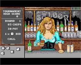 In game image of Bar Games on the Commodore Amiga.
