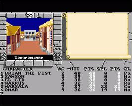 In game image of Bard's Tale II: The Destiny Knight on the Commodore Amiga.