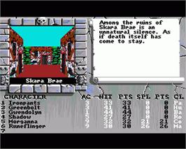In game image of Bard's Tale III: Thief of Fate on the Commodore Amiga.