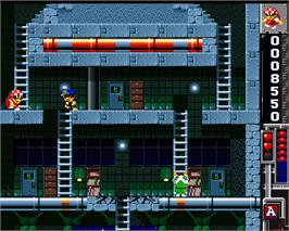 In game image of Base Jumpers on the Commodore Amiga.