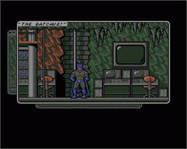 In game image of Batman: The Caped Crusader on the Commodore Amiga.