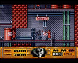 In game image of Batman: The Movie on the Commodore Amiga.