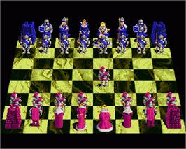 In game image of Battle Chess on the Commodore Amiga.