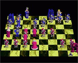 In game image of Battle Chess 2: Chinese Chess on the Commodore Amiga.