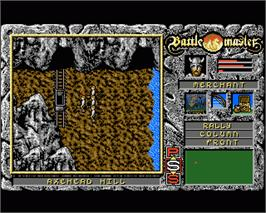In game image of Battle Master on the Commodore Amiga.