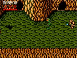 In game image of Battle Toads on the Commodore Amiga.