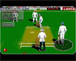 In game image of Battle for the Ashes on the Commodore Amiga.