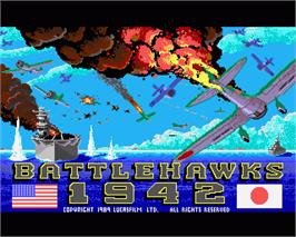 In game image of Battlehawks 1942 on the Commodore Amiga.