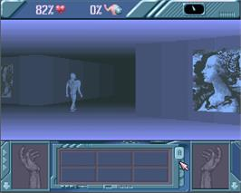 In game image of Behind the Iron Gate on the Commodore Amiga.