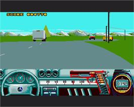 In game image of Beverly Hills Cop on the Commodore Amiga.