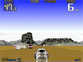 In game image of Big Run on the Commodore Amiga.
