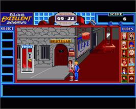 In game image of Bill & Ted's Excellent Adventure on the Commodore Amiga.