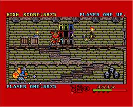 In game image of Black Lamp on the Commodore Amiga.