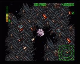 In game image of Blastar on the Commodore Amiga.