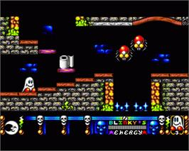 In game image of Blinky's Scary School on the Commodore Amiga.