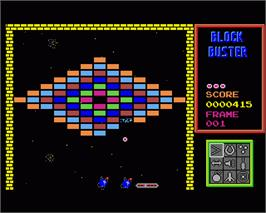 In game image of Blockbuster on the Commodore Amiga.