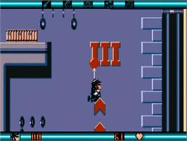 In game image of Blues Brothers on the Commodore Amiga.