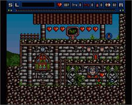 In game image of Bograts: The Puzzling Misadventure on the Commodore Amiga.