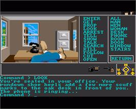 In game image of Borrowed Time on the Commodore Amiga.