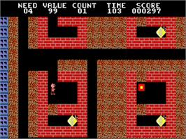 In game image of Boulder Dash Construction Kit on the Commodore Amiga.